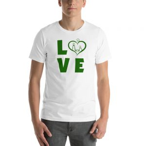 Short-Sleeve Unisex T-Shirt in white and different models