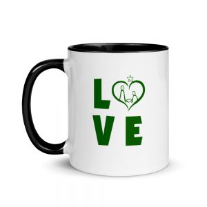 mug with LOVE slogan