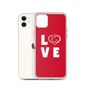 iPhone case with LOVE slogan in different models